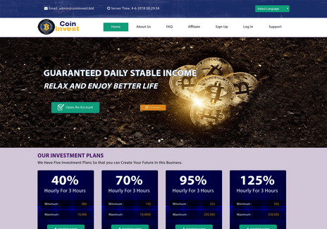 Screenshot of coininvest.bid