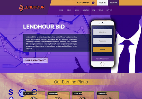 Screenshot of lendhour.bid