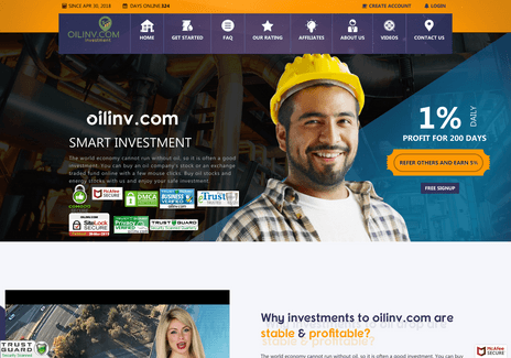 Screenshot of oilinv.com