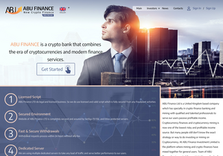 Screenshot of abu-finance.com