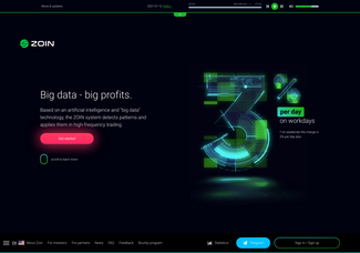 Screenshot of zoin.systems