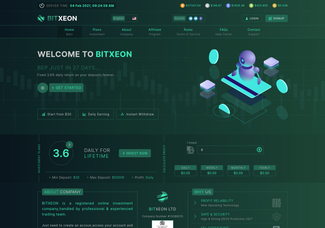 Screenshot of bitxeon.io
