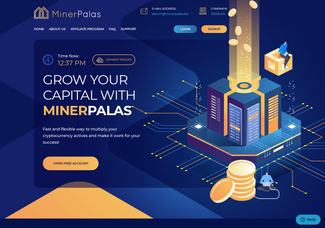 Screenshot of minerpalas.biz