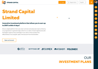 Screenshot of strandcapital.io
