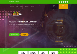 Screenshot of bitpulse.cc